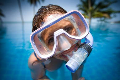Diving for children and teenagers